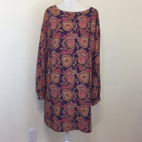 a1589edcec86 LOFT Dresses   Skirts - Ann Taylor Loft Purple   Pink Paisley Shift Dress